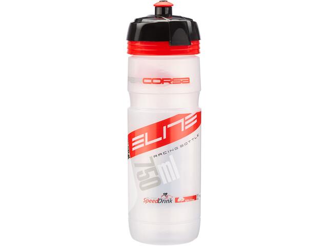 Elite Super Corsa Trinkflasche 750ml transparent/rot
